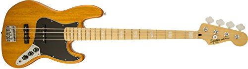 Squier by Fender Vintage Modified Jazz Bass '77, Amber by Fender