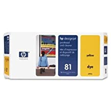 HP Yellow Printhead/Cleaner - Inkjet - 1000 Page - Yellow - 1 (Catalog Catego...
