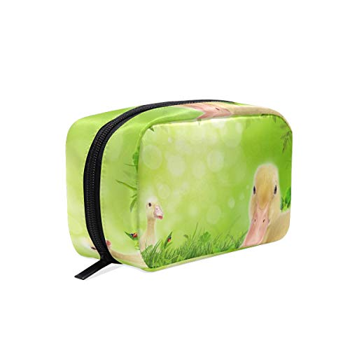 Makeup Bag 2 Flappers Duck On Spring Meadow Cosmetic Pouch Clutch ()