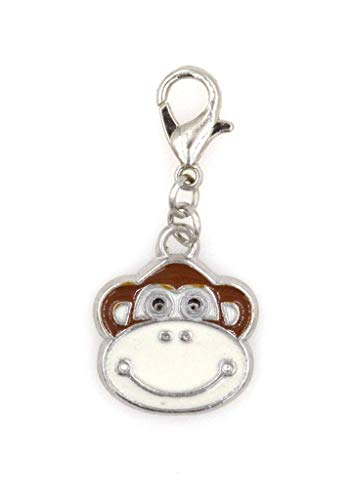 Enamel Monkey Clip On Charm Perfect for Necklaces and Bracelets (ZC 98E)