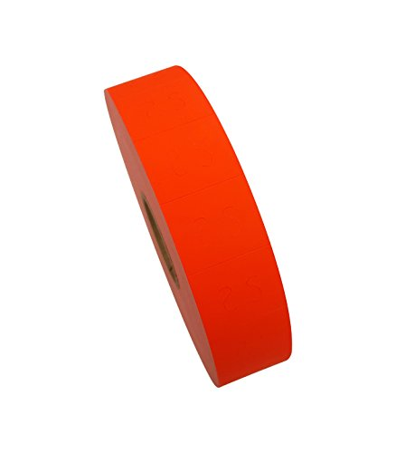 - Amram 2 Line 20x17 Fluorescent Red Pricing/Marking Labels, 1 Sleeve of 8 Rolls/14,000 Labels. Includes 1 Free Ink Roll Replacement. Labels & Ink Roller Compatible w/Monarch 1136.