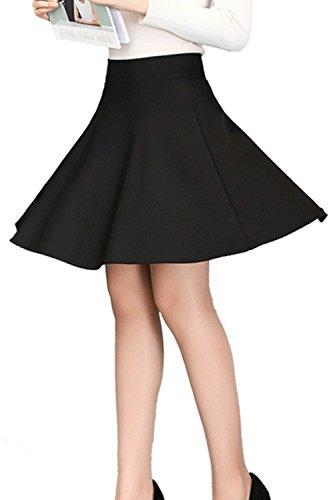 Et Ligne L'été Femmes Occasionnels Une Yulinge Black Swing Taille De Haute Mini Jupe CqvTIqwEn