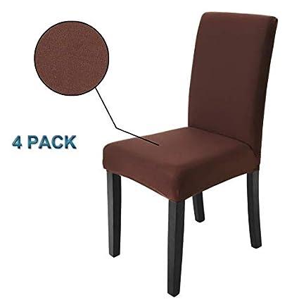 Veakii R Fundas para sillas Pack de 4 Fundas sillas Comedor, Lavable ...