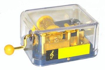 See Thru Hurdy Gurdy Music Box- IT'S A SMALL WORLD