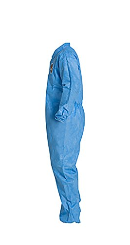 DuPont ProShield 10 PB125S Protective Coverall with Serged Seams, Disposable, Elastic Cuff and Ankles, X-Large, Blue (Pack of 25) by DuPont (Image #2)