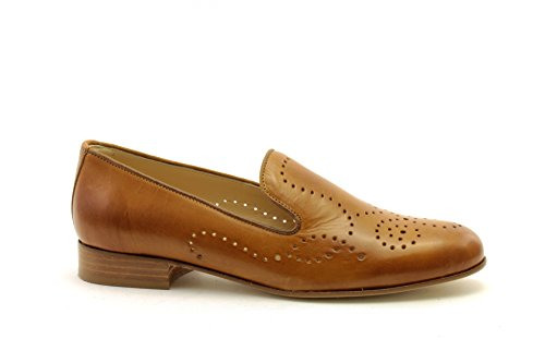 Women's Loafer Luca Cuoio Brown Grossi Flats wZ5q6E