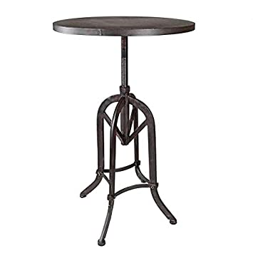 Design Toscano MH35331 Industrial Revolution Adjustable Height Side Table, Black