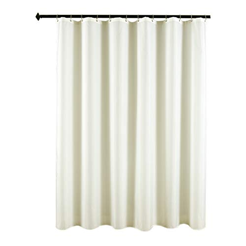 Biscaynebay Fabric Shower Curtain Liner, Waterproof Water Resistant Bathroom Curtain Liner, 72 by 72 inch, Ivory