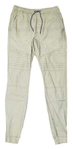 George Stone Wash Moto Jogger Woven Pants - Medium Brown