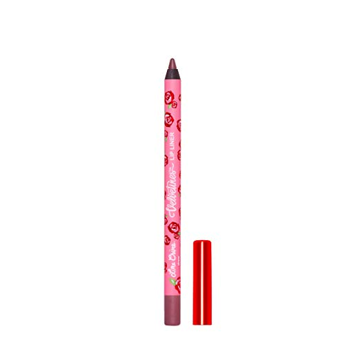 Lime Crime Velvetines Lip Liner (Drew). Long Lasting Plummy Brown Matte Lip Lining Pencil (0.042oz / 1.20 g)