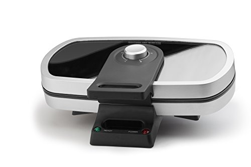 Molla Premium Glass Top Belgian Waffle Maker, Double Image