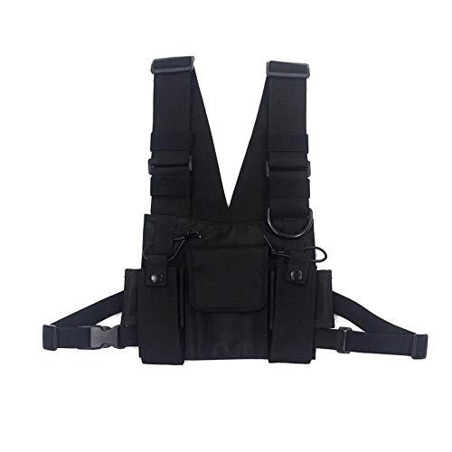 Longzhuo Schoudertassen Borst Rig Bag Hip Hop Street wear Mannen Functionele Taille Packs Verstelbare Zakken Vest (Heren…