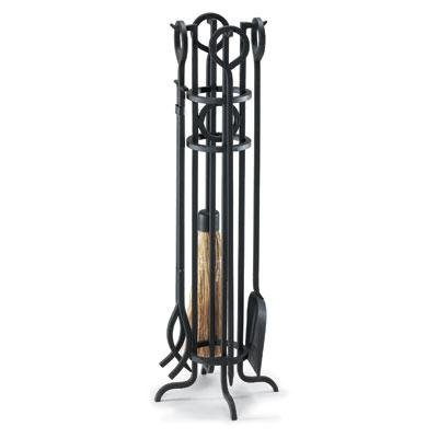 Arts and Crafts 5 Piece Iron Fireplace Tool Set