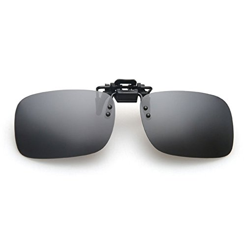 LOMOL Fashion Light Weight Polarized Nearsighted Glasses Clip-on Flip up UV Protection - Between Polarized And Non Sunglasses Difference Polarized