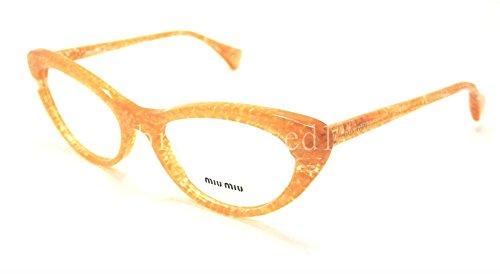 Miu Miu MU03LV Eyeglasses-KAS/1O1 Orange Glitter - Frame Miu Miu Glasses
