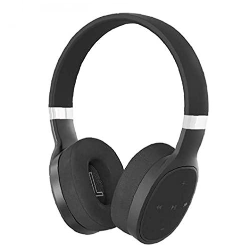 Bluetooth Headset Over Ear Headphones HD Stereo Wireless Headphones for Travel Running Black VJ087