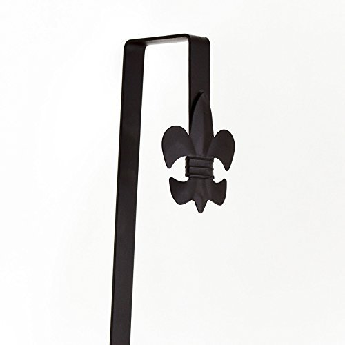 Adorox Bronze Fleur De Lis Over Door Holiday Decorative Wreath Hanger Hook (Dark Bronze)