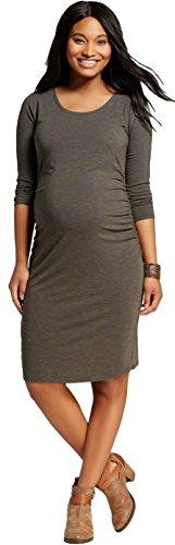 Liz Lange Women's Maternity 3/4 Sleeve T-Shirt Dress (XX-Large, Healthy (Liz Lange Maternity)