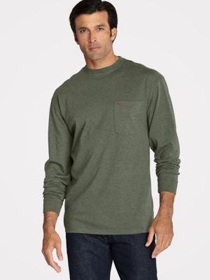 Pendleton Men's Deschutes Long-Sleeve Shirt, Yakima Green Heather-63919, LG (Yakima Heather)