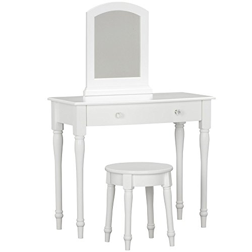 3 Shelf Wood Changing Table - Little Seeds Rowan Valley Laren Vanity and Stool Set, White