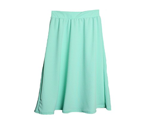 Mon Petit Genevieve Girls 4-10 Maxi Skirt Casual Print and Solid Wear (Mint, X-Large) ()