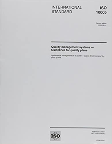 ISO 10005:2005, Quality management systems - Guidelines for quality plans