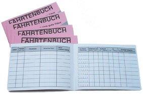 Fahrtenbuch Din A6 über 2 Seiten