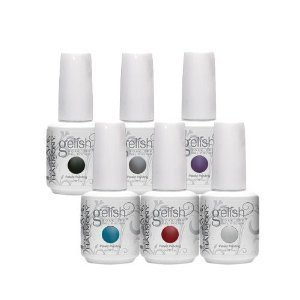 Gelish Soak Off HOUSE OF GELISH Set of 6 Six Colors Collection Nail UV Gel Mani