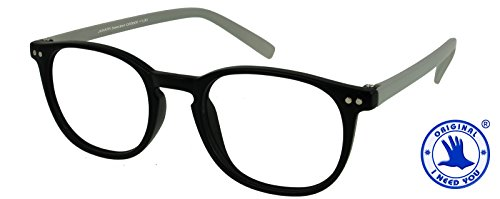 Reading Glasses Black-Gray Prescription Junior Select Eyewear For Men & Women With Spring Hinge And High-Quality Plastic - +1.0 Power / - Glasses Female Face Suit Shape Round To