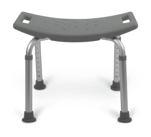 Medline Bath Bench without Back, Gray - Aluminum Benches Medline Bath