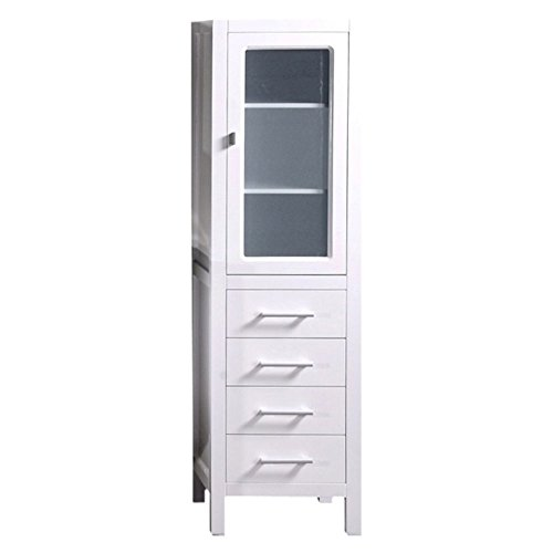 Design Element CAB004-W London 65-in. Linen Cabinet