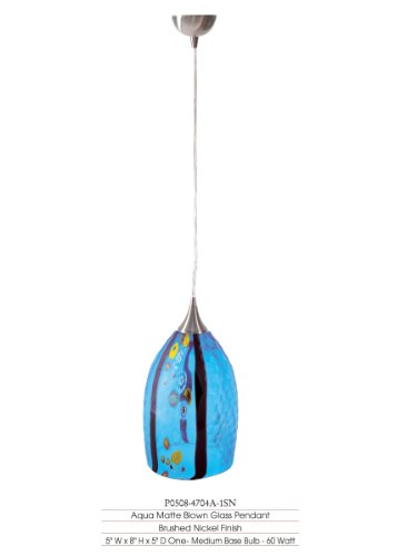Aqua Glass Pendant Light in Florida - 7