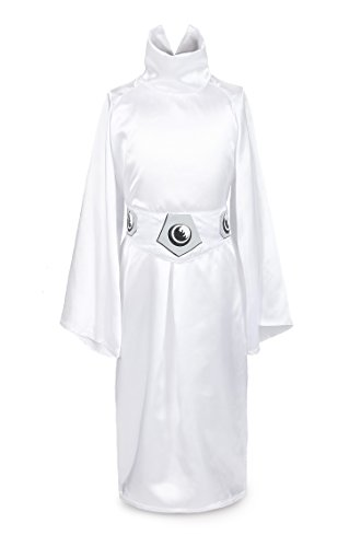 ReliBeauty Girls Princess Leia Dress up Costume, 2T-3T, White