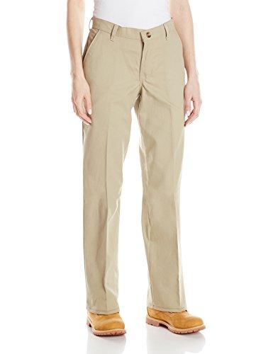 Red Kap Women's Plus Size Plain Front Cotton Work Pant, Khaki, 24x28