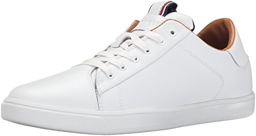 Tommy Hilfiger Men's Russ Fashion Sneaker, White, 12 M US