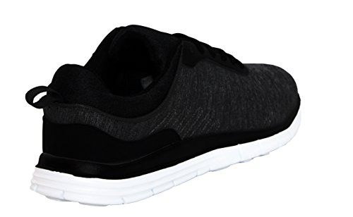 Mens Black Sneakers Lace Up Running Airtech Trainers 7 Mesh Sport Shoes 12 Gym Fitness Canvas Sizes rZwrzqpWgH