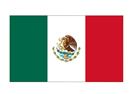 Rogue River Tactical Mexico Mexican Flag Flag Auto Car Decal Bumper Sticker Truck Boat RV Window 5x3 Inch Rectangle