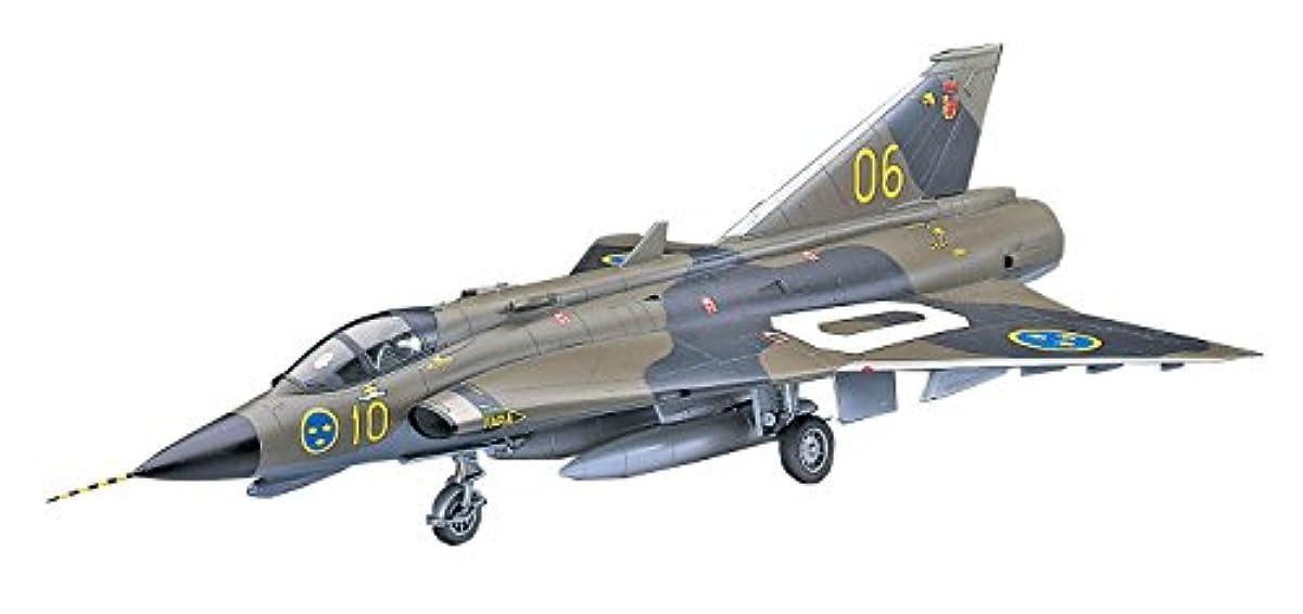 [해외] 하세가와 1/48 스웨덴 공군 J35F/J 드라켄 프라모델  PT41