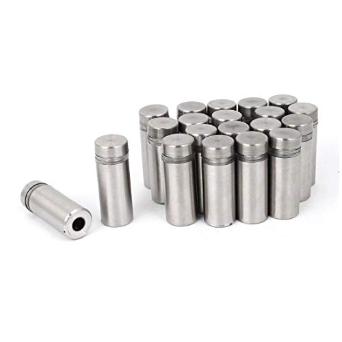 Wall Mount Flush Door Holder (Stainless Steel Wall Mount Glass Standoff Holder Screw Nails 12 x 30mm 20 Pcs)