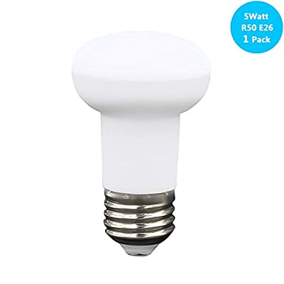 YMZM Non-dimmable 40R16/SP - 40 Watt R16 Incandescent Spot Light Bulb E26 Single Contact Medium Screw LED Flood Bulb,500Lumen,120 Beam Angle Reflector Bulb,120Voltage,CRI 85+,Non-dimmable