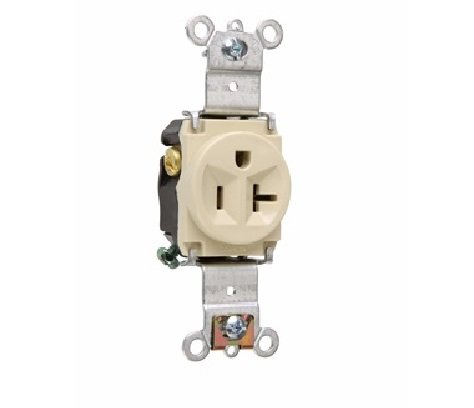 Legrand-Pass & Seymour 5361I 5361-I 20A 125V 5-20R Single Receptacle, Ivory