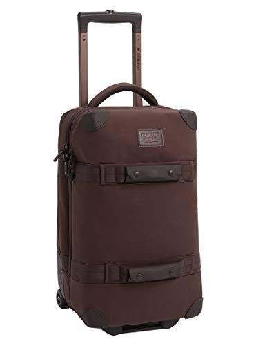 Burton Wheelie Flight Deck 40L Travel Bag, Cocoa Brown Waxed Canvas