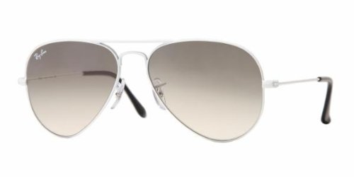 Gradient Ray Ban Aviator (Ray-Ban RB3025 Aviator Silver Frame / Crystal Grey Gradient Lens)