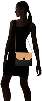 Isaac Mizrahi Womens Fashion Designer Handbags Tatiana Leather Clutch Bag with Crossbody Strap