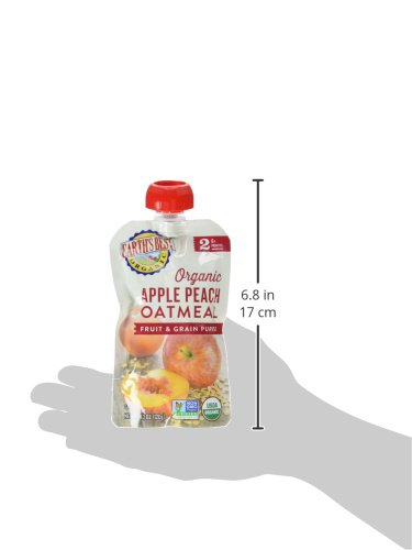 Earth's Best Organic Stage 2 Baby Food, Apple Peach and Oatmeal, 4.2 oz. Pouch (Pack of 12) by Earth's Best (Image #10)