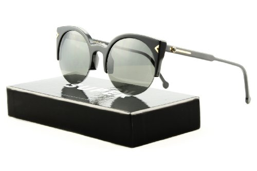 Super F3F Sunglasses Lucia Deco Black w/ Black Zeiss Lens by - Lenses Zeiss Sunglasses