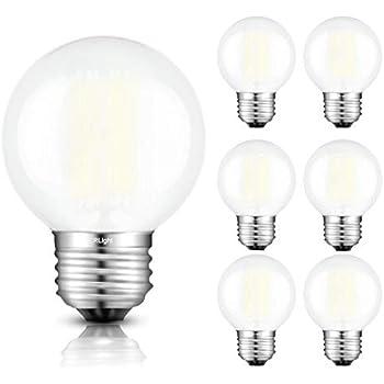 Satco S9202 G25 Globe Led 4000k Medium Base Light Bulb 6w