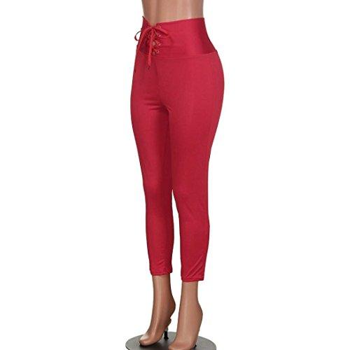 Shaping Monocromo Tempo Vita Alta Pantaloni Lacci Rot Pantalone Primaverile Waist Leggings Con Body Giovane Ragazze Vintage Jogging Autunno Donna Fashion Sport Base Libero SUxHxwvOq