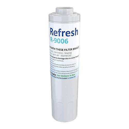 Refresh Replacement for Maytag PUR FILTER 4, Whirlpool EDR4RXD1, Everydrop Filter 4, UKF8001AXX-750, 4396395, PuriClean II, and Kenmore Filters 469006, 46 9006, 9006 Refrigerator Water Filter (1 -