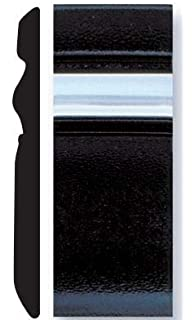 Trim-Gard U-Shaped Black or Chrome Door Edge Molding Black, 1//2 x 150